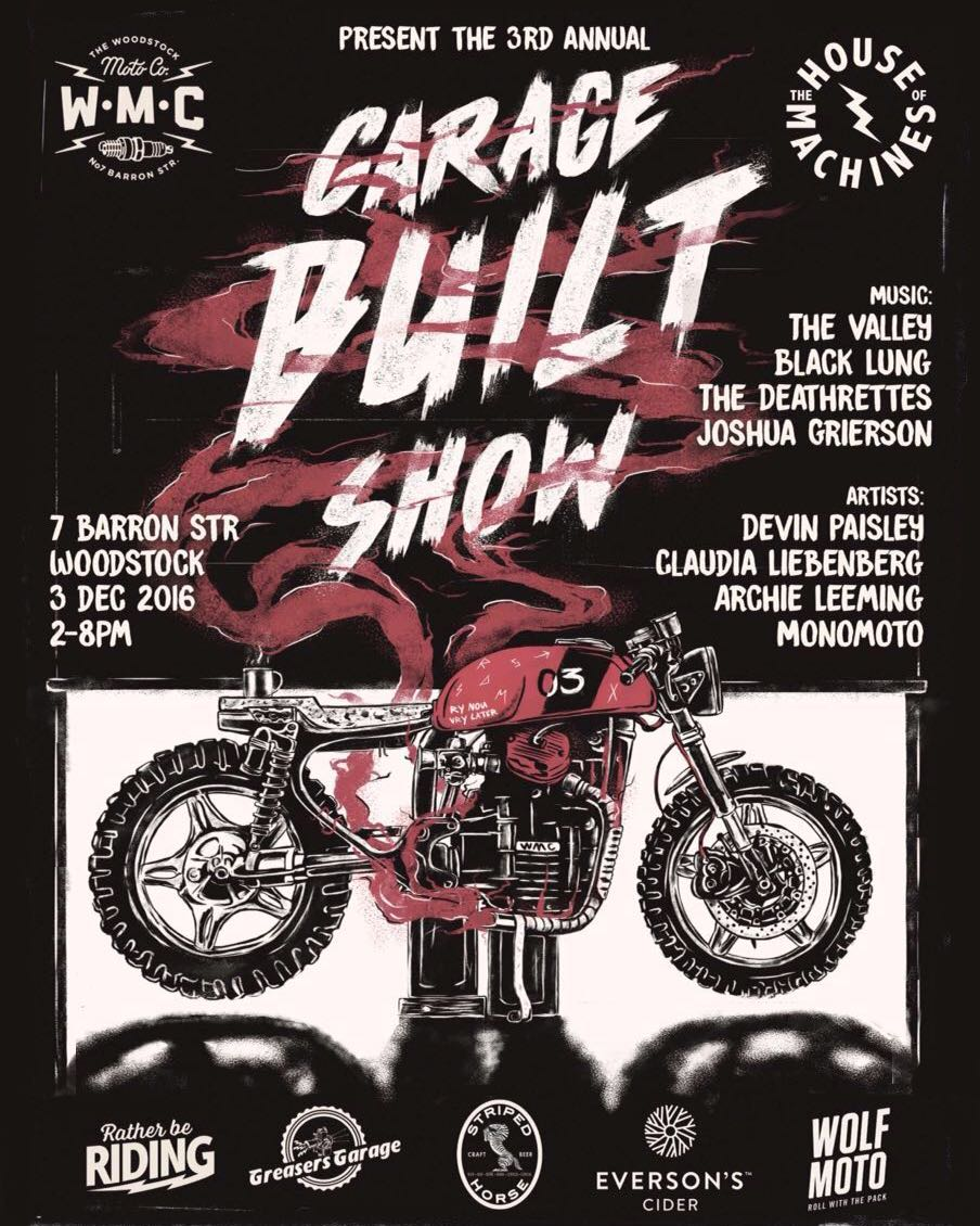 3rd Annual Garage Built Show Poster.