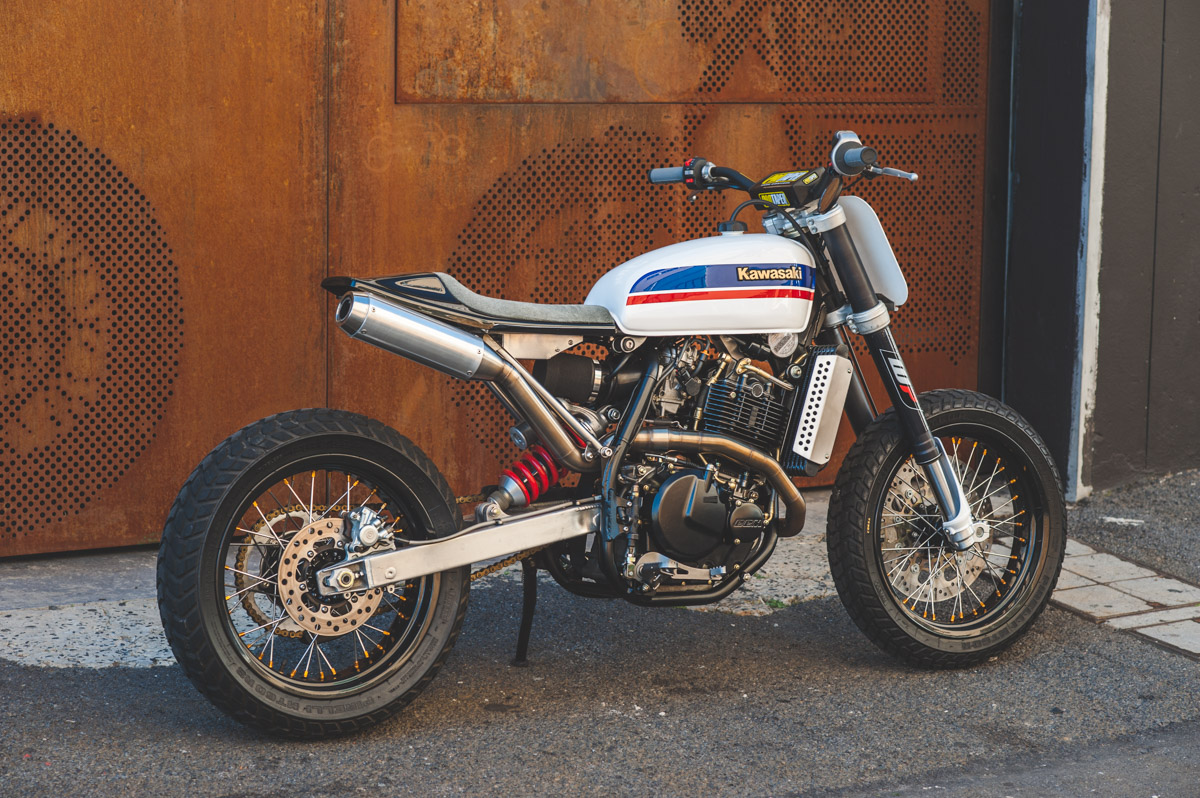 Custom CCM Street Tracker built by Wolf Moto.