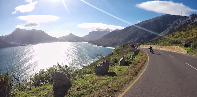 Heading towards Hout Bay via Chapmans Peak Drive.