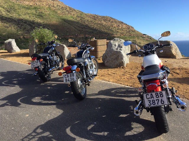 Modern Classics on tour at the top of Chapmans Peak Drive.